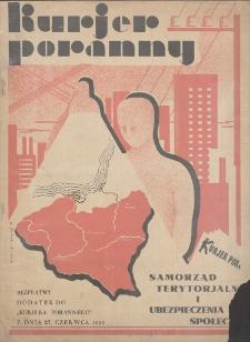 Kurjer Poranny : numer poświęcony Samorządowi terytorialnemu i Ubezpieczeniom Społecznym. 27 VI 1929.