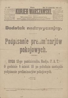 Kurjer Warszawski : dodatek nadzwyczajny. R. 100, 1920, nr 283, 12 X