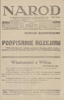 Naród : dodatek nadzwyczajny. R. 1, 1920, 11 października