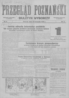 Przegląd Poznański : biuletyn wyborczy. 1930, nr 6, 10 XI