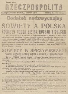 Rzeczpospolita : dodatek nadzwyczajny. 10 VIII 1920