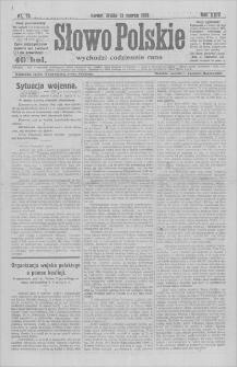 Słowo Polskie : wychodzi codziennie rano. R. 24, 1919, nr 70, 12 III
