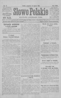 Słowo Polskie : wychodzi codziennie rano. R. 24, 1919, nr 71, 13 III