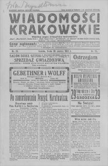 """Wiadomości Krakowskie: wspólny organ dzienników krakowskich: """"Czas"""", """"Głos Narodu"""", """"Goniec Krak."""", """"Ilustr. Kuryer Codz."""", """"N. Reforma"""", """"N. Dziennik"""" na czas strajku drukarzy. 1922, nr 55, 20 XII"""