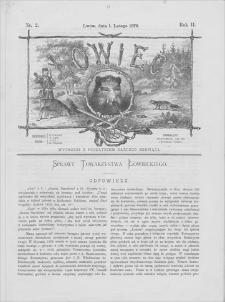 Łowiec : organ Galicyjskiego Towarzystwa Łowieckiego. R. 2, 1879, nr 2, 1 II