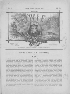 Łowiec : organ Galicyjskiego Towarzystwa Łowieckiego. R. 2, 1879, nr 6, 1 VI