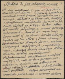 """Twórczość Emila Zegadłowicza : """"Społem"""" to jest chłopskie w """"pysk"""", brulion artykułu"""