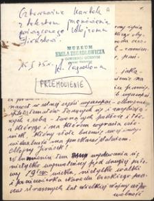 Twórczość Emila Zegadłowicza : brulion prelekcji wygłoszonej przez Emila Zegadłowicza na uroczystości poświęconej pamięci pisarza i polityka Aloisa Jiráska