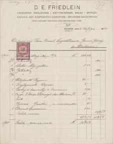 Papiery Emila Zegadłowicza. Rachunki za książki z lat 1911-1934