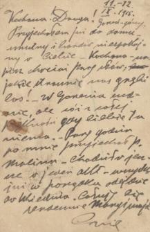 Korespondencja Emila Zegadłowicza. Listy Emila Zegadłowicza do Marii Zegadłowicz z domu Kurowskiej z lat 1915-1918