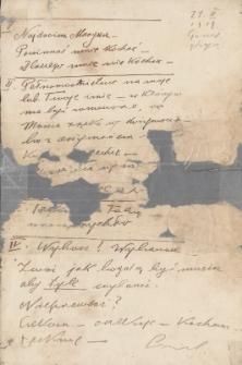 Korespondencja Emila Zegadłowicza. Listy Emila Zegadłowicza do Marii Zegadłowicz z domu Kurowskiej z roku 1919