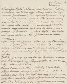 Korespondencja Emila Zegadłowicza. Listy Emila Zegadłowicza do Marii Zegadłowicz z domu Kurowskiej z roku 1921