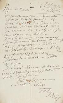 Korespondencja Emila Zegadłowicza. Listy Emila Zegadłowicza do Marii Zegadłowicz z domu Kurowskiej z lat 1932-1939
