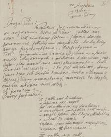 Korespondencja Emila Zegadłowicza. Listy Emila Zegadłowicza do Jadwigi Ziemięckiej