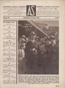 AS : ilustrowany magazyn tygodniowy. R. 1, 1935, nr 11 (12 V)