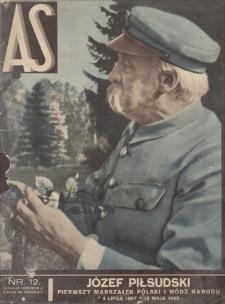 AS : ilustrowany magazyn tygodniowy. R. 1, 1935, nr 12 (19 V)