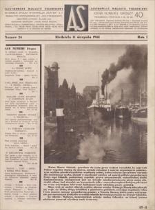 AS : ilustrowany magazyn tygodniowy. R. 1, 1935, nr 24 (11 VIII)