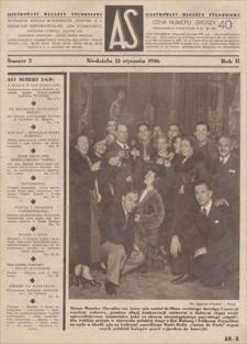 AS : ilustrowany magazyn tygodniowy. R. 2, 1936, nr 2 (12 I)