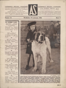 AS : ilustrowany magazyn tygodniowy. R. 2, 1936, nr 16 (19 IV)