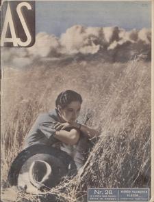 AS : ilustrowany magazyn tygodniowy. R. 2, 1936, nr 28 (12 VII)