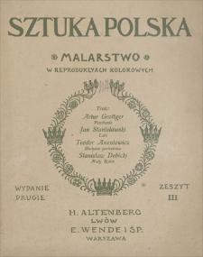 Sztuka Polska : malarstwo w reprodukcjach kolorowych. Wyd. 2, zeszyt 3