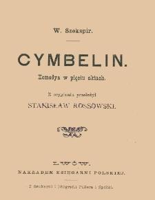Cymbelin : komedya w pięciu aktach
