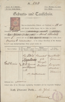 Materiały biograficzne Emila Zegadłowicza : papiery i dokumenty osobiste