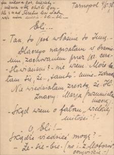 Korespondencja Emila Zegadłowicza. Listy Marii Koszyc-Szołajskiej do Emila Zegadłowicza cz. 1 : maj – lipiec 1938