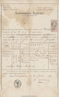 Papiery Adolfa Kaiszara z lat 1877-1905