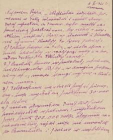 Korespondencja Emila Zegadłowicza. Listy Emila Zegadłowicza do Marii Zegadłowicz z domu Kurowskiej z lat 1922-1931