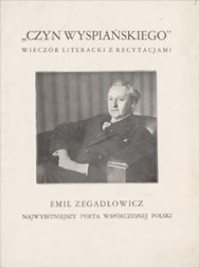 Papiery Emila Zegadłowicza dotyczące działalności odczytowej, udziału w wieczorach literackich