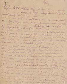 Korespondencja Emila Zegadłowicza. Listy Leokadii Essmanowskiej do Emila Zegadłowicza z lat 1919-1936
