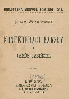 Konfederaci barscy i Jakób Jasiński