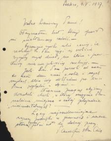 Korespondencja Emila Zegadłowicza. Listy Marii Parafińskiej do Emila Zegadłowicza z lat 1937–1940
