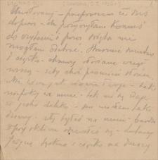 Korespondencja Emila Zegadłowicza. Listy Stanisławy Wysockiej do Emila Zegadłowicza z roku 1926