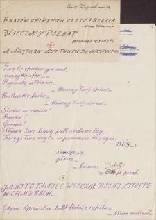 Twórczość Emila Zegadłowicza. Tematów chińskich część trzecia – Ince Tödwen – Wieczny poemat boskiego Litajpe a najpierw list Thufu do arcypoety