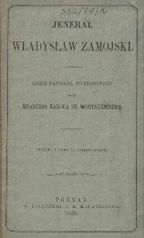 Jenerał Władysław Zamojski : rzecz napisana po francuzku