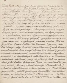 Twórczość Emila Zegadłowicza. Brulion tekstu do pracy o Ludwiku Misky
