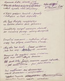 Twórczość Emila Zegadłowicza. Materiały, z których część weszła do tomiku Nad brzegami Zodjaku