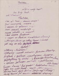 Twórczość Emila Zegadłowicza. Turandot – fragmenty przekładu utworu: Carlo Gozzi, Turandot. Groteska baśniowa w 5 aktach w przeróbce poetyckiej