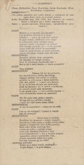 Twórczość Emila Zegadłowicza. U czarownicy – fragment przekładu Fausta Johanna Wolfganga Goethego