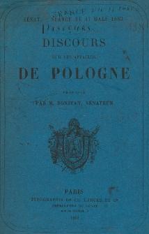 Discours sur les affaires de Pologne : Sénat - séance du 17 mars 1863