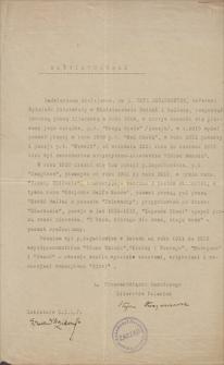 Papiery Emila Zegadłowicza. Zaświadczenia, podania, upoważnienia
