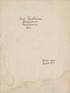 Twórczość Emila Zegadłowicza. Notatki: spisy książek, zbiorów graficznych, obrazów