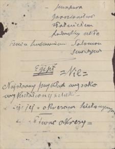 Notatki Emila Zegadłowicza na temat sztuki od starożytności po wiek XX.