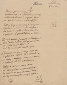Twórczość Emila Zegadłowicza. Pod wezwaniem Łazarza – przekład wierszy z Księgi Łazarza Heinricha Heinego (fragmenty)