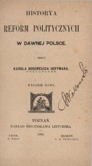 Historya reform politycznych w dawnej Polsce