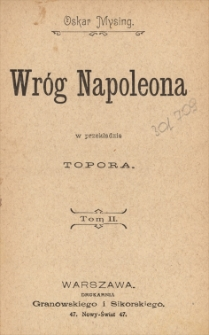 Wróg Napoleona. T. 2