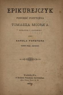 Epikurejczyk : powieść poetyczna