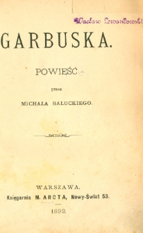 Garbuska : powieść